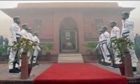 Pak Navy assumes guards duty at mausoleum Of Allama Iqbal