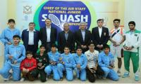 Zeeshan lifts Chief Of The Air Staff National Junior Squash Championship Trophy