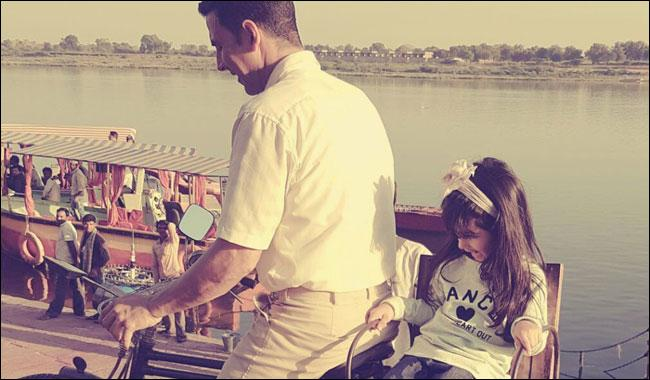 Akshay Kumar takes daughter on bicycle on Children's Day