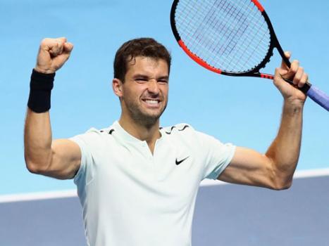 Dimitrov storms into last four at ATP Finals