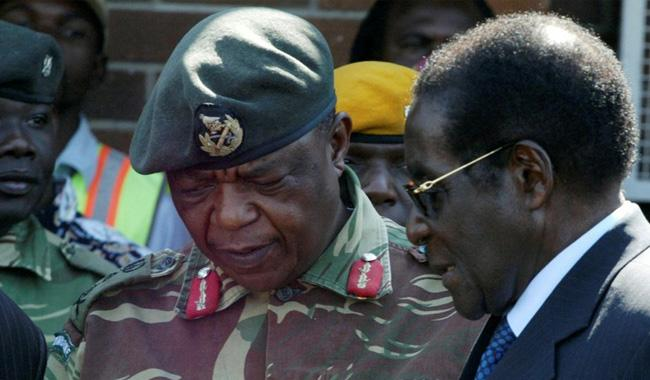 Possible military coup in Zimbabwe: Soldiers say Mugabe safe in state TV address