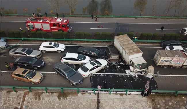 Horrific highway pile-up kills 18 in China