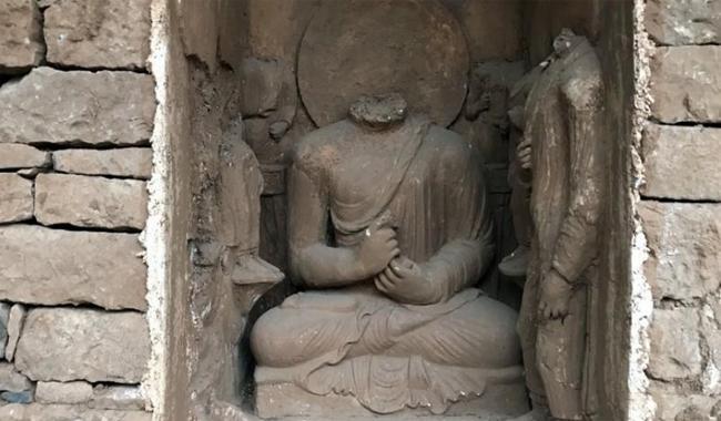 Pakistan unveils 1,700-year-old sleeping Buddha, evoking diverse heritage