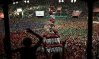 Building human towers in Spain reflect centuries old tradition