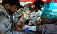 Pakistan Navy ship Alamgir provides medical assistance to injured fishermen at sea
