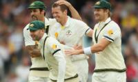 Australia triple strike rocks England in Ashes Test