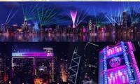 Spectacular three-night light show in HK