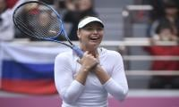 Maria Sharapova gets marriage proposal from a fan during match in Turkey