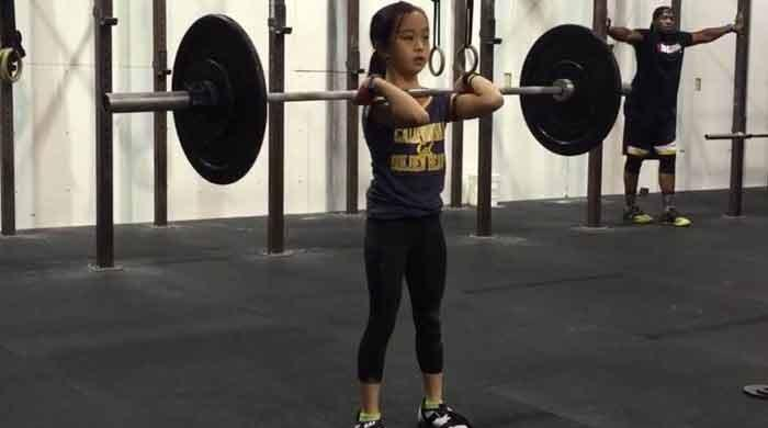 Elle Hatamiyah: youngest weightlifter and gymnast