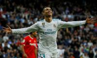 Ronaldo at the double as Real blow away sorry Sevilla