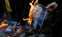 Iran protesters say Trump speeding up the end of Israel