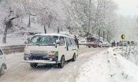 Snowfall, rains bring mercury down