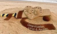 Artist finds a unique way to congratulate  Virat, Anushka