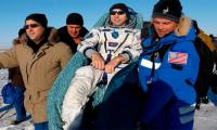 Three-man crew returns from space station: NASA TV