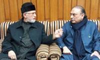 Zardari telephones Qadri, meeting likely on Friday