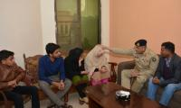 Army Chief visits family of martyred Abdul Moeed