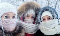 Village with -62°C temperature freezing eyelashes