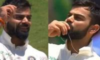 Kohli kisses wedding ring after scoring 150