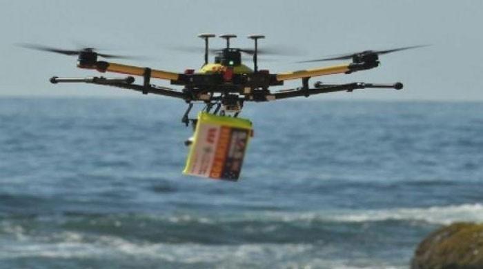 世界第一的无人机在澳大利亚抢救游泳者
