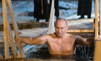 Russia's Putin takes dip in icy lake