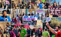 Texas women, families march through streets of Texas for Women's Rights