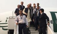Nawaz Sharif arrives in Karachi