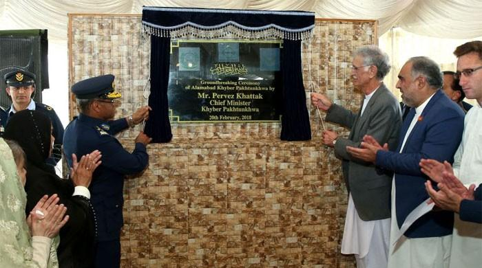 Ground breaking ceremony of PAF's Alamabad Welfare Project held at Swabi