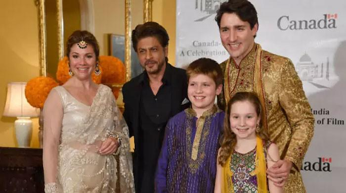 Canadian PM Trudeau meets Shah Rukh Khan in India