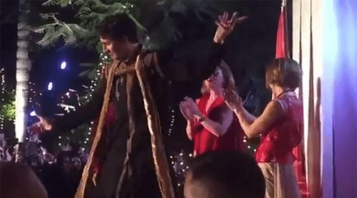 Canadian PM Trudeau performs dance to Bhangra beats in India