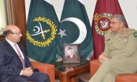 President AJK, Army Chief discuss situation on LoC