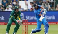 Kohli missing for India as South Africa bowl