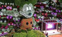 Mickey Mouse floral display sets Guinness of tallest topiary structure