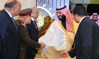 Saudi crown prince discusses economy on Egypt trip