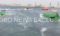 Two container ships collide at Karachi port