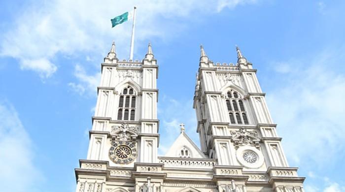 Pakistan's flag flown over London's Westminster Abbey