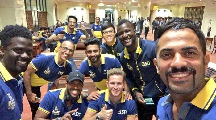Zalmi arrive in Karachi for PSL final