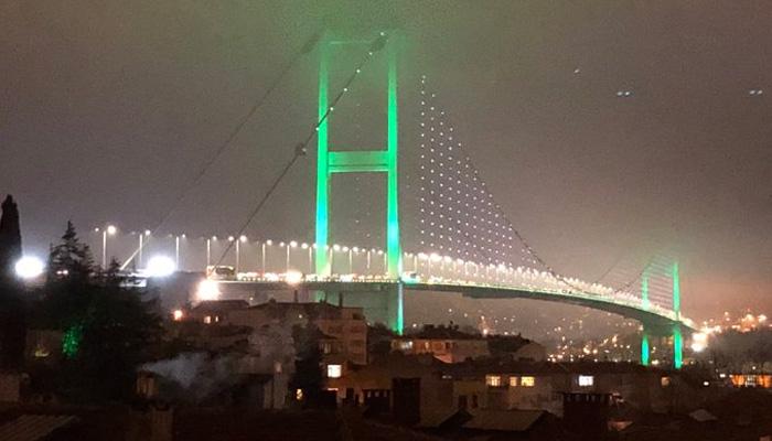 burj khalifa bosphorus bridge light up pak flag on