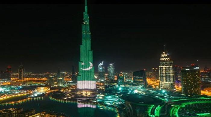 Burj Khalifa, Bosphorus Bridge light up Pak flag on Pakistan Day
