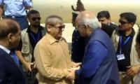 Shehbaz Sharif arrives in Karachi