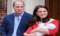 Britain´s Prince William and Kate return home with newborn son