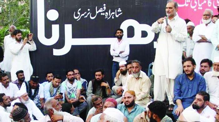 JI stages sit-ins in Karachi over power outages and water crisis