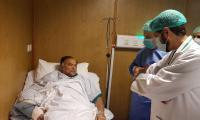Nawaz Sharif visits Ahsan Iqbal at Services Hospital