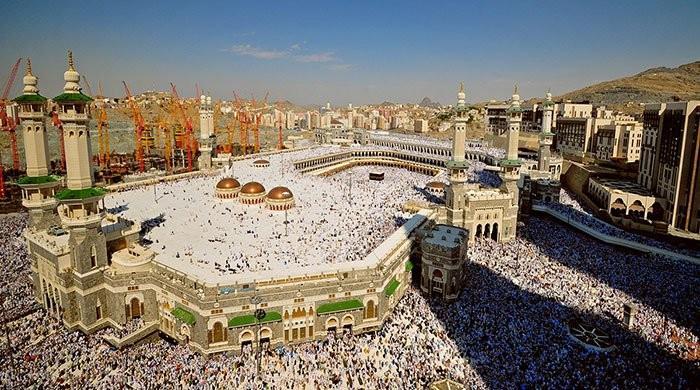 无人驾驶飞机管理麦加大清真寺的斋月群众