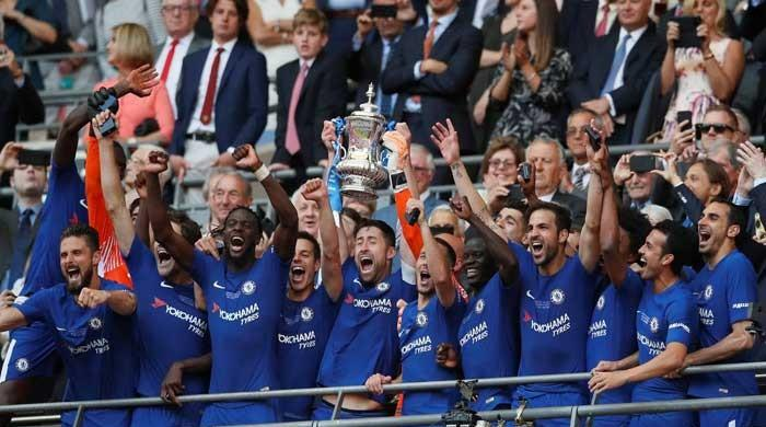切尔西1-0击败曼联队夺取足总杯冠军