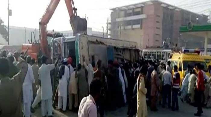 Two killed after bus overturned in Korangi area of Karachi