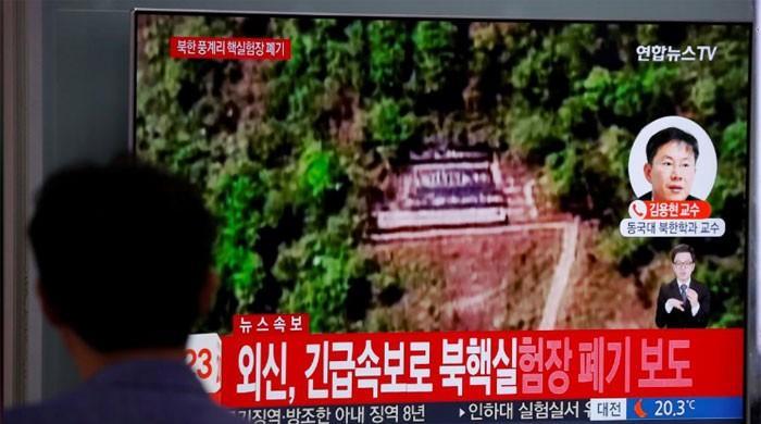在朝鲜首脑会议的疑虑中,朝鲜炮击核试验场