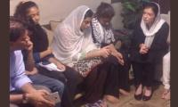 Aseefa Bhutto visits Sabika Sheikh's family