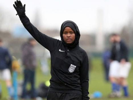 UK's first Muslim female referee breaks stereotypes - one after another