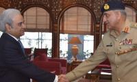 COAS Gen Bajwa meets caretaker prime minister