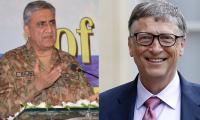 Bill Gates telephones COAS General Bajwa
